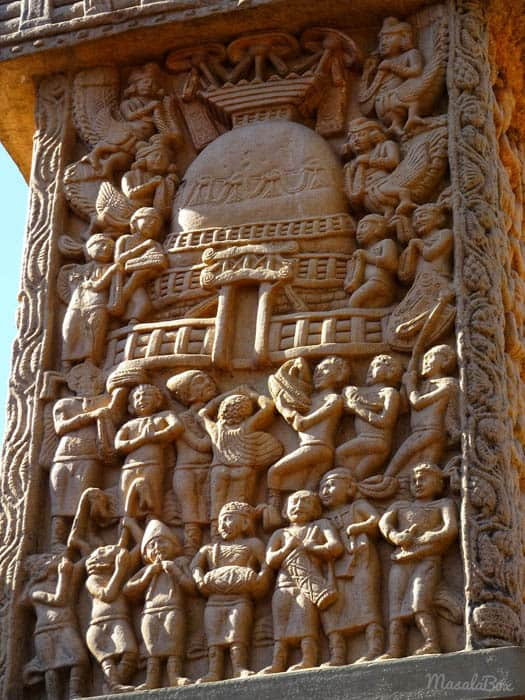 Sanchi Stupa Carving