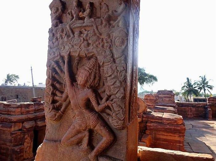 Virupaksha Temple pillar