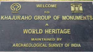 Khajuraho Temples plaque