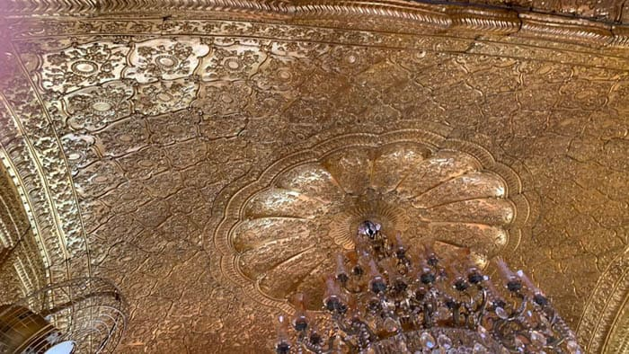 Gold plated ceiling of Golden Temple
