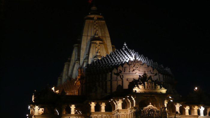 Somnath temple in night