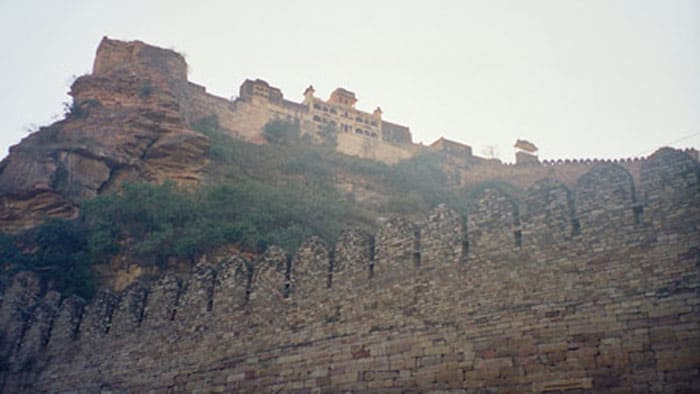 gwalior fort far view