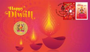 Diwali Australia stamp
