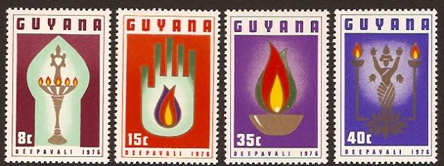 Diwali Guyana stamp