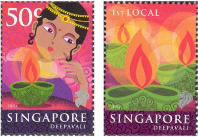 Diwali Singapore stamp