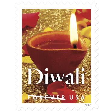 Diwali USA stamp