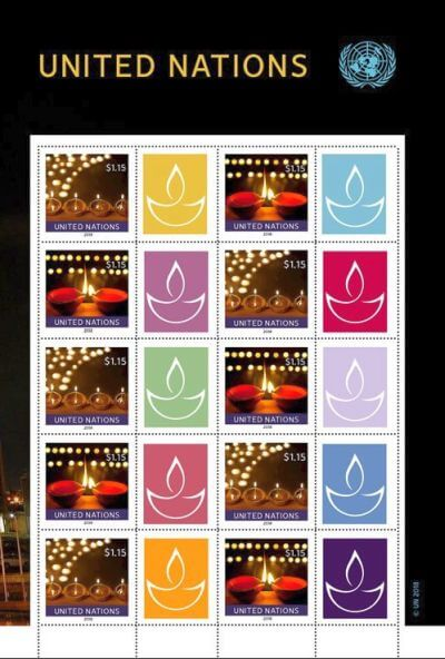 Diwali United Nation stamp