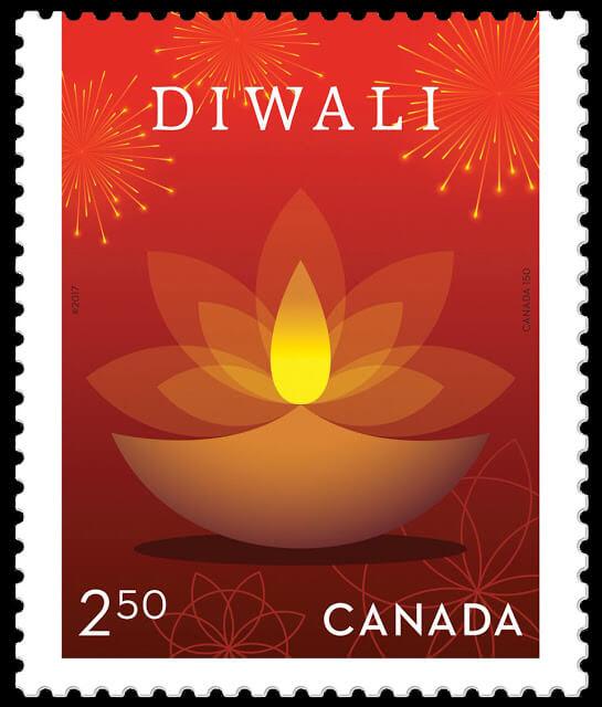 Diwali canada stamp