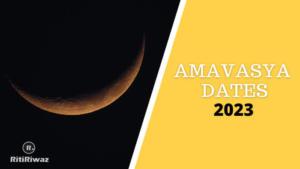 Amavasya Dates