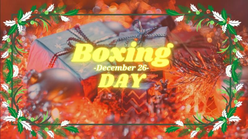 Boxing Day – the day after Christmas
