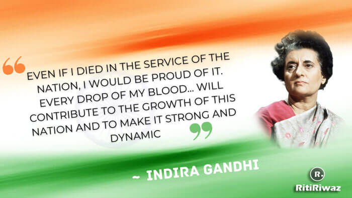 Indira Gandhi Quote