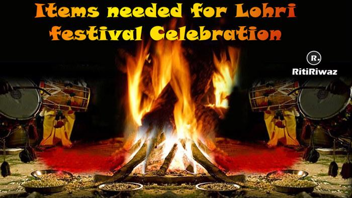 Items needed for Lohri Festival Celebration