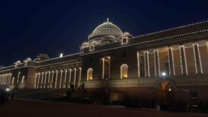 rashtrapati bhawan at night