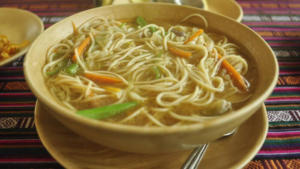 thukkpa (soup and noodles)