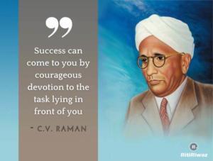 C V Raman quote