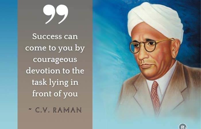 Popular C. V. Raman Quotes