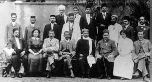 Gopal Krishna Gokhale with gandhiji