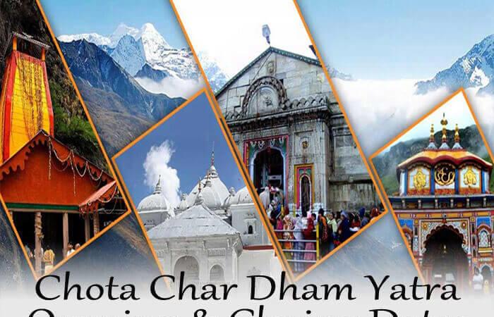 Chota Char Dham Yatra Opening & Closing Dates 2021