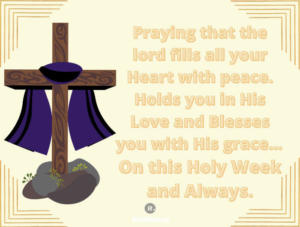 Holy week wishes