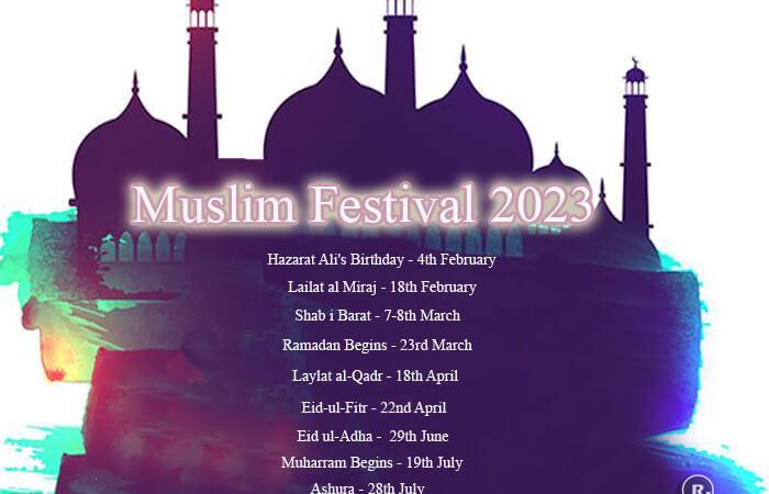 Muslim Festivals in India 2021