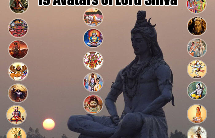 19 Avatars of Lord Shiva