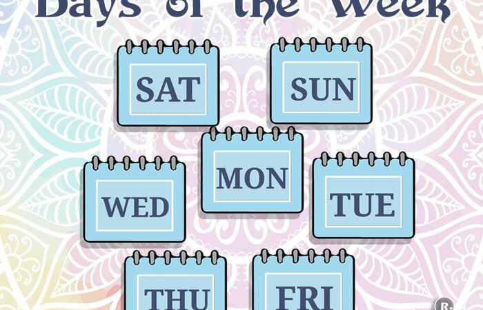 Weekday Names
