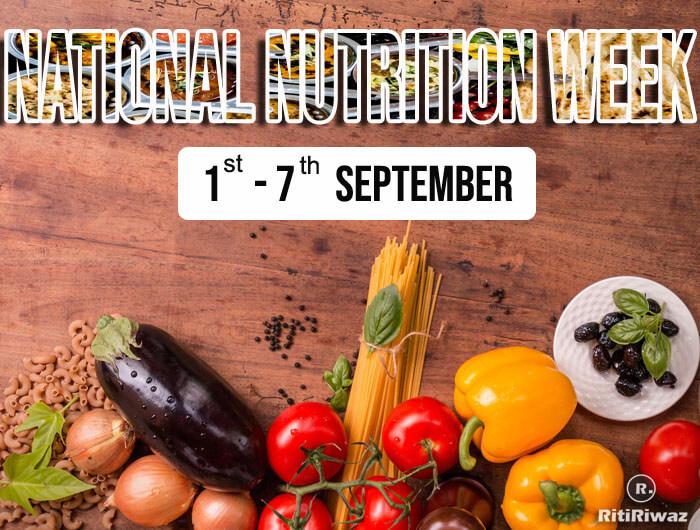 National Nutrition Week (1st September to 7th September)
